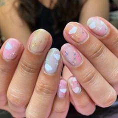 Cute Acrylic Nail Designs, Simple Acrylic Nails, Gel Nail Designs, Manicure Y Pedicure, Gel Nails, Manicures, Trendy Nails, Cute Nails, Cosmic Nails