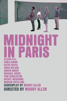 Woody's Europe Movie Poster Set: Midnight in Paris / Vicky Cristina Barcelona / To Rome With Love