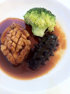 Traditional Chinese food and a delicacy. Braised #abalone and #sea cucumber