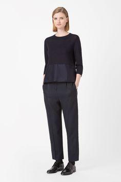 Side-pocket wool jumper