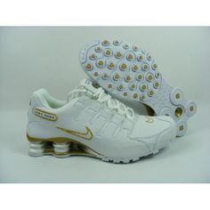 459674f1f36899 Nike Shox NZ White Gold Men Shoes  79.59