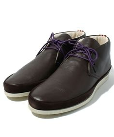 Paul Smith(ポールスミス)のMIDDLE CUT LEATHER SNEAKER / LOOMIS(スニーカー)|ブラウン