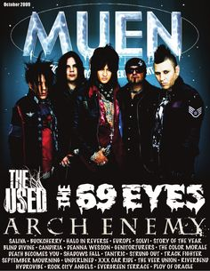 MUEN October 2009  Music Underground Entertainment News: The 69 Eyes, The Used, Arch Enemy, Buckcherry, more