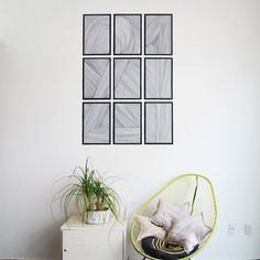 Can you believe this wall art is made with Sharpies?