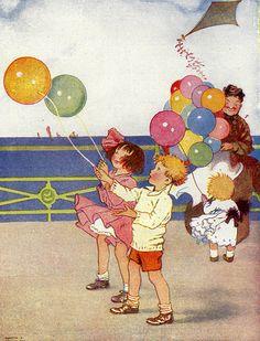 Mother's Three - Air Balls / Honor C. Appleton (1879 – 1951, English)