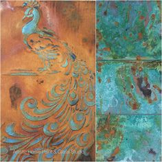 Learn to use Modern Masters Metal Effects in our one day hands-on workshop! Patina & Rust @ Artistic Home Studio in Alameda, CA. Peacock Painting, Faux Painting, House Painting, Rust Paint, Metallic Paint, Chalk Paint, Bronze Patina, Copper Art, Modern Masters