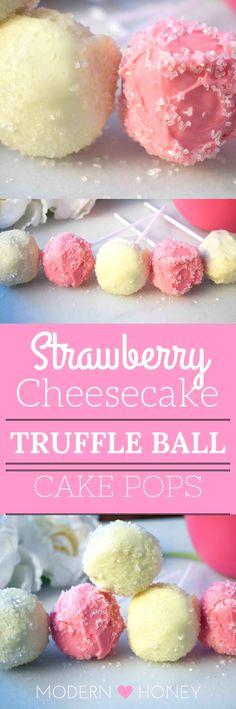 Strawberry Cheesecake Truffle Balls Cake Pops
