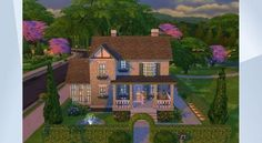 Confira este lote na Galeria do The Sims 4! - this house belongs to henry and elisabeth foster!                       #cottage #modern #house #family #cute #pool #sims4 #nocc