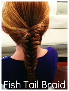 How to Make a Fish Tail Braid! Trying this on my daughter....