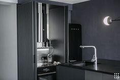 View the full picture gallery of Midnight Flat Flat Picture, Blue Grey, Gray, Kitchen Design, Flats, Gallery, Interior, Home Decor, Architects