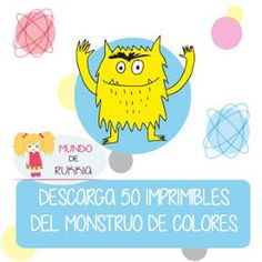 Monster Activities, Hands On Activities, Preschool Education, Preschool Curriculum, Spanish Teaching Resources, Teaching English, Chico Yoga, Spanish Colors, Preschool Colors