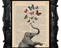 elephant with heart of flowers coming out of trunk - Google Search