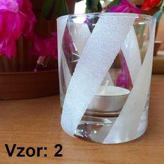 Svietnik sklenený mix vzorov - Sviečka - S čajovou sviečkou (plus 0,10€), Vzor - Vzor 2