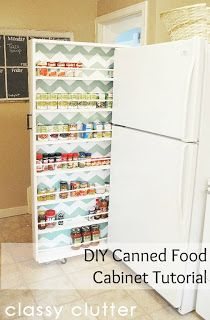 Slide out storage solutions not only add more storage but they can hide ugly gaps. Look for gaps around you home next to appliances, furniture, shelving, tub and shower, garage, or closets. You will be amazed at what you can fill those areas with.