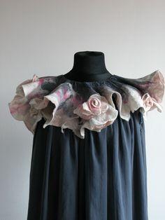 nunofelted on silk shiffon- dress. majoffe.blogspot.com
