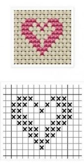 Hottest Free Cross Stitch heart Style Cross-stitch is an easy sort of needlework. - Hottest Free Cross Stitch heart Style Cross-stitch is an easy sort of needlework, perfect on the ma - Tiny Cross Stitch, Cross Stitch Bookmarks, Cross Stitch Heart, Cross Stitch Cards, Cross Stitch Borders, Simple Cross Stitch, Cross Stitch Alphabet, Cross Stitch Flowers, Cross Stitch Designs