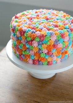 Cute way to decorate a kid's birthday cake.