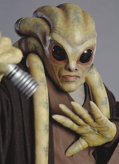 Kit Fisto was a renowned male Nautolan Jedi Master in the waning years of the Galactic Republic. In 41 BBY he took Bant Eerin as his Padawan. He later trained Nahdar Vebb as his Padawan to knighthood as well. During the Clone Wars, he served as a Jedi General in the Grand Army of the Republic, as well as a member of the Jedi High Council.