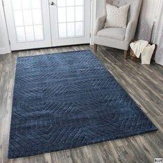 x Room Rugs, Rugs In Living Room, Area Rugs, Dark Blue Rug, Blue Rugs, Dark Grey, Navy Blue, Machine Made Rugs, Geometric Rug