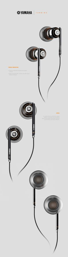 "Personal Project did for Yamaha as Freelancer, the brief was to design a concept of premium earphones inspired from the aeronautics world.I've called them ""Turbine"", from the inspiration element that gave me the guidelines to design this product."