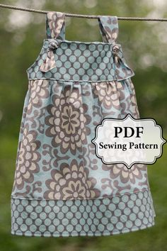 PDF Apron Knot Dress Sewing Pattern Sizes 3 by pitterpatternshop, $7.00 or 2 for $10 Cute Little Girl Dresses, Cute Little Girls, Little Girl Dress Patterns, Dress Sewing Patterns, Girls Summer Dresses, Girls Dresses Sewing, Toddler Dress Patterns, Baby Girls, Baby Dress Pattern Free