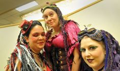 Queen of Hearts, #Fairy Princess Lolly and Steampunk Jennifer in the Spokesman Review - once again, caught by the human shutterbug!