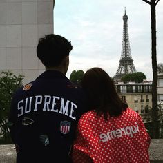 couple, paris, and style image