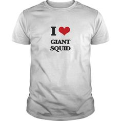 I Love Giant Squid - Know someone who loves Giant Squid? Then this is the perfect gift for that person. Thank you for visiting my page. Please share with others who would enjoy this shirt. (Related terms: I love Giant Squid,giant squid-monster in body of water-hydra-kraken-leviat...)