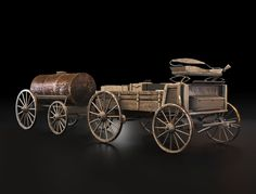Wild Western Stagecoach and Wagon Old West Town, Wooden Wagon, Old Wagons, Dnd Art, Low Poly 3d Models, Covered Wagon, Horse Carriage, Wagon Wheel, Horse Drawn