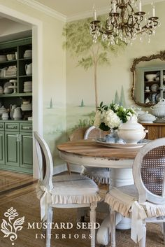 My MN Home Tour And I love the way it looks when viewed from the dining room. It provides a nice bridge from the dining room into the kitchen. French Country Dining Table, Country Kitchen Tables, Painted Kitchen Tables, Vitrine Vintage, Dining Table Makeover, Miss Mustard Seeds, Dining Furniture, Painted Furniture, Furniture Makeover