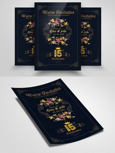 Floral Invitation Flyer Template. Flyer Templates