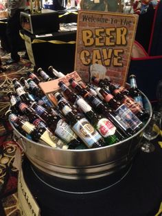 Beer Cave - Assorted craft beer silent auction basket. #curranmiller