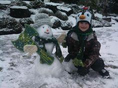 Timber snowman-via Meg Forest. #RCTID #portlandtimbers