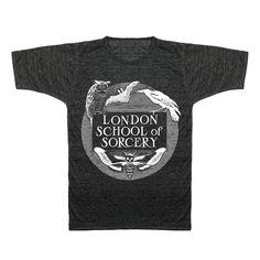 LONDON SORCERY black marl crew t-shirt