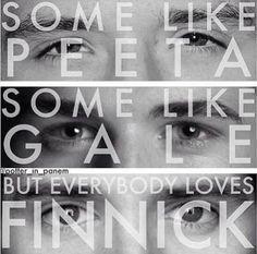 Everybody love finnick...but peeta too!