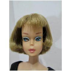 Vintage Mattel Long Hair American Girl Barbie w/Pink Lips, 1966 Girl Barbie, Earring Hole, Vintage Barbie Dolls, Barbie Friends, Pink Lips, Artisan Jewelry, American Girl, Doll Clothes, Vintage Fashion