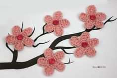 Repeat Crafter Me: Cherry Blossom Flower Crochet Pattern, thanks so xox