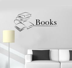 3D Bookshelf Wall Sticker Books View Poster Removable Wall Decals Home  Decor Window View Art Stickers