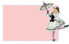 Freebie Image - Vintage Pretty Lady Tags.