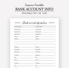 Password Organizer Printable, Password List, Password Log