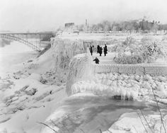 Niagara Falls Frozen! Goats Island Old 8x10 Reprint Of Photo