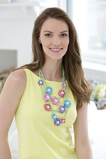 Mod Flower Necklace - Susan Lowman - Red Heart North America