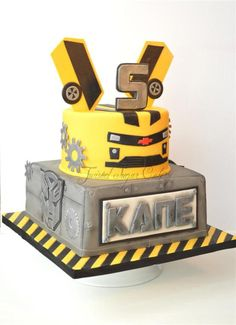 Bumblebee Transformer Theme This Cake Design Came From Several Different Cake Ideas