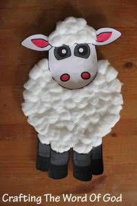 This cute and simple lamb craft will be a great add-on to any Bible lesson. It can be used for: Cain and Abel's offerings to God. (Genesis 4) Jesus as the Good Shepherd. (John 10:1-17) Jesus as The…