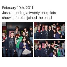 Josh attending a show before he joined the band