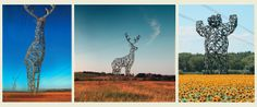 Animal-shaped electricity pylon concept by Moscow-based Design Depot – idea for Winter Olympics in Sochi