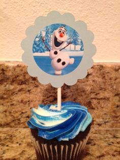 Frozen cupcake Toppers by TheLittleBearCo on Etsy, $1.00