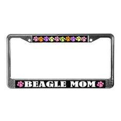 Beagle Mom pet owner license frame for Mother's Day.