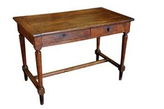 French late 19th century (2 drawers) farm table/desk