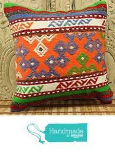 Turkish Handmade Kilim Pillow Cover 16x16 Stripe Pillowcases Rustic Kilim Pillow Sofa Decor Ethnic Pillow cover Tribal Pillow Cover Wool Pillowcases Bohemian Pillow cover Colorful Pillow from Kilimwarehouse http://www.amazon.com/dp/B0198AMVPY/ref=hnd_sw_r_pi_dp_JrsCwb0P9JDT5 #handmadeatamazon